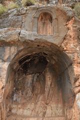 Caesarea Philippi - Banias (Brett Streutker) Tags: tour scriptures cave pagan worship king emperor temple cult gates hell hades christ parable st peter disciples apostles jerusalem david tiberius augustus paul palastine judea jewish samaria christian baptist galilee canyon river