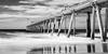 Fingal jetty (pbaddz) Tags: newsouthwales longexposure bw blackwhite jetty sandpumping australia fingal
