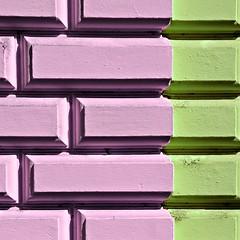 untitled (prague, czech republic) (bloodybee) Tags: prague czechrepublic bohemia praha europe trip travel wall building house bricks square lilac green