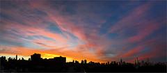 Glorious (Chris Protopapas) Tags: iphone panoramic newyorkcity nyc manhattan sunset cityscape skyline clouds explore