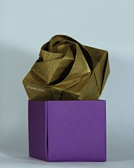 Origami rose box. (Origami-point.) Tags: origami rose box shin hangyo