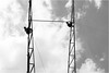 haitch, Koppal (vedanshulad) Tags: work workers constructing shed blakandwhite black white h tower man height