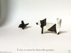 To be, or not to be, that is the question. (Magic Fingaz) Tags: anjing barthdunkan chien chó dog hond hund köpek origami origamidog perro pies пас пес собака หมา 개 犬 狗