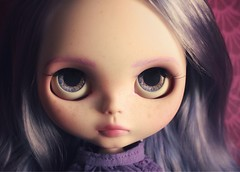 AGATHA (_danie11e_) Tags: blythe doll ooak art lilac purple hair girl custom