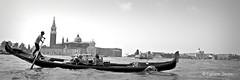 gondoliere (sanino fabrizio) Tags: barca imbarcazione lavoro turismo trasporto bianco nero monocromo mare laguna venezia veneto italia canon 550d gondola gondoliere giudecca canale san marco