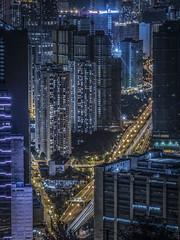 Sleepless city 不夜城 (cyangLtravel) Tags: city urban trails lights lighting buildings stunning nightlife discoverhongkong vehicles sunstars