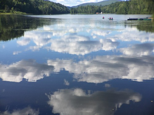 Reflection of clouds on the lake
