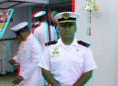 on board sailing vessel The BAP Union Peru in Rotterdam 3D (wim hoppenbrouwers) Tags: the bap union peru rotterdam 3d anaglyph stereo redcyan sailingvessel ship bapunion serie unión sailing vessel