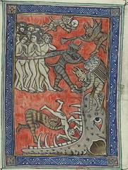 Apocalypse de S. Jean, 14th century (nogretchen) Tags: illuminatedmanuscript 14thcentury apocalypse hellmouth
