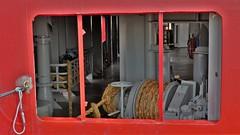 Behind bars  explore 14-08-2017 (Roel Oortwijn) Tags: back deck achterdek boot vessel detail red rood explored explore inexplore