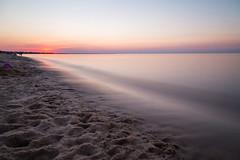 Sunset on Lewes Beach Delaware (aparlette) Tags: delawarebay summer beach landscape sunset lewesbeach bay water lewes delaware unitedstates longexposure twilight 10stopndfilter 10stop 30ndfilter dusk nd ndfilter neutraldensity us