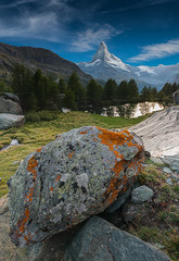 The Matterhorn (JimiaS) Tags: cervin matterhorn zermatt mountain landscape valais suisse swiss switzerland lac lake stone pierre ngc cloud nuage dream lonely alps d800 snow nikon nikkor 2470 summer été alpes cervino 4478