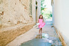 Little Lady (mravcolev) Tags: child girl kids puddle reflection naturallight portrait summer pink dress lady softtones pastel canoneos5dmarkii 5dmkii 35l canonef35mmf14lusm alley