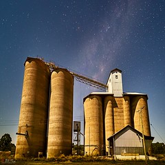 Yeoval (Bill Thoo) Tags: yeoval nsw newsouthwales australia rural bush country granary landscape stars milkyway astro astrophotography longexposure structure farming agriculture moonlight moonlit sony a7rii ilce7rm2 samyang 14mm travel