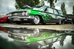 1960 Chevrolet Brookwood (Dejan Marinkovic Photography) Tags: 1960 chevy chevrolet brookwood station wagon custom blown flames flamejob american classic car blower reflection