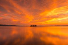 sunset 2198 (junjiaoyama) Tags: japan sunset sky light cloud weather landscape orange contrast colour bright lake island water nature summer