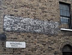 Ghost Sign Windmill Walk Waterloo London 02/09/17. (Ledlon89) Tags: ghostsigns ghostsign adverts paintedsigns london oldlondon
