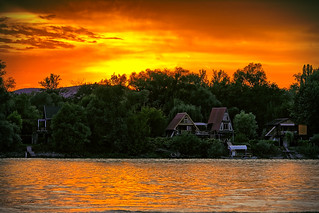 Sunset on Danube