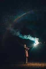 The brightest star (raydigital7) Tags: ilobsterit ilobster sparklers new year helios vintage lens photography vsco vscofilm vscocam portrait light photo brandon woelfel galaxy stars photoshop manipulation beauty asian philippines filipino
