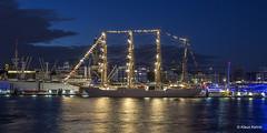 Hamburger Hafen - 04081702 (Klaus Kehrls) Tags: hamburg hamburgerhafen segelschiffbapunien spiegelung lichter elbe flüsse nachtaufnahme