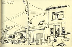 Rue des Roses - L'Hôpital, Moselle (lolo wagner) Tags: croquis sketch usk urbansketchers lorraine moselle