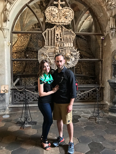 Deya and Nan at Sedlec Ossuary
