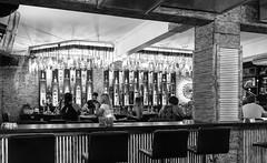 Vintage Cocktail Bar (Number Johnny 5) Tags: lines tamron stripes 2470mm corfu people vintage white bnw holiday bottles lights glass monochrome 2017 sidari candid noir chairs d750 nightlife black barlife bw nikon angles bar