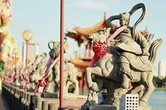 Guardians - Kaohsiung (Chapo78) Tags: taiwan kaohsiung lotus pond statues guardian bridge temple buddhism