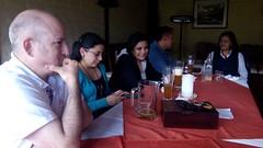 Aitor en la comida de despedida de Joseba Segura con trabajadores del hospital andino