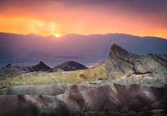 Zabriskie Point (andreassofus) Tags: zabriskiepoint deathvalley california nevada america usa rocks mountains mountainscape landscape nature grandlandscape sunset rain thunder stunderstorm clouds sky drama dramatic overlook viewpoint basin saltflat color colorful travel travelphotography outdoor nopeople canon manfrotto