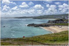St Ives , Cornwall ... (1) (miriam ulivi) Tags: miriamulivi nikond7200 england stives cornwal cornovaglia mare sea spiagge beaches baie bays cielo sky nuvole clouds panorama landscape promontorio promontory