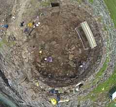 Drone image taken during excavation of the upper rubble layers