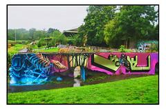 STREET ART by SAMER & TOM BLACKFORD (StockCarPete) Tags: tomblackford streetart londonstreetart wallart urbanart spraycanart aerosolart graffiti london uk samer skeleton bones skull