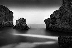 Pacific Fin (StefanB) Tags: 1235mm 2016 bw california coast em5 geotag hwy1 longexposure monochrome outdoor pacific sea seascape