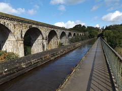 Chirk Aqueduct and Viaduct, Wrexham, 17 August 2017 (AndrewDixon2812) Tags: chirk ywaun wrexham wrecsam wales aqueduct viaduct bridge llangollen canal shropshire railway