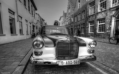 Old Time -Bruges (YᗩSᗰIᘉᗴ HᗴᘉS +8 500 000 thx❀) Tags: 7dwf blackandwhite monochrome bruges hdr 3exp auto car automobile hensyasmine