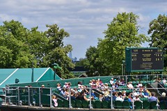 The Shard and Guy's Hospital in the distance from Court 12
