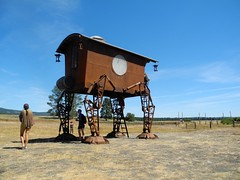 little house on the prairie (citymaus) Tags: oregon eclipse 2017 gathering symbiosis big summit prairie ochoco national forest festival art arts installation outdoor house legs little lost nomads vulcania joe mross archive designs