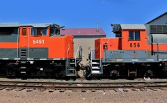 From This To This (BravoDelta1999) Tags: dakotamissourivalleyandwestern dmvw railroad sooline soo railway bismarck northdakota emd sd50f 5451 gp35 856