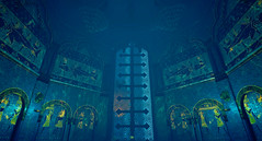 Gates to the new Seas (Gothicpolar) Tags: abzu game underwater sea beautiful artstyle giant squid games pc color water
