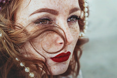 (martina.spoljaric1989) Tags: freckled freckles ginger redhead redhair woman girl portrait beauty natural headshot freckledface