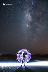 Milkyway with Light Painting (hisalman) Tags: milkyway longexposure girl light painting night razeen