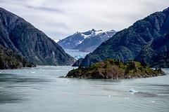 Sawyer Glacier At a Greater Distance (brev99) Tags: d610 landscape tracyarmfjord mountains water sawyerglacier alaska photoshopelements12 colorefex nikviveza tamron70300vc