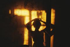 I just love shadows (Lena Kanshyna) Tags: girl shadow selfportrait summer sunset light home evening olympus olympusmju2 film filmphoto filmphotography analog analogue 35mm 35mmphotography ukraine mju2 kanshyna kyiv kodakgold kodak