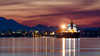 Dawn in Victoria (C McCann) Tags: dawninvictoria pacific sunrise dawn morning daybreak youngheung marine anchor reflections reflect pink mountains skyline victoria bc britishcolumbia canada vancouverisland westcoast