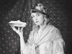 Custard Pie (Apionid) Tags: silentfilm custard pie familyalbum werehere hereios monochrome nikond7000 selfportrait outrageouslies