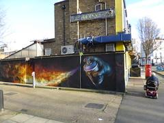 Irony graffiti, Camden (duncan) Tags: graffiti camden streetart irony