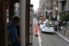 View from side of streetcar (atsolo) Tags: sanfrancisco california train trolley rails