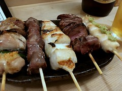 Assorted Chicken Skewers from Ise  Knada (Fuyuhiko) Tags: assorted chicken skewers from ise knada 伊勢 神田 焼鳥 tokyo 東京