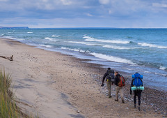 Beach Hike Upper Peninsula (tschwan22) Tags: olympus micro four thirds hike backpacking walking walk lake superior pictured rocks michigan upper peninsula